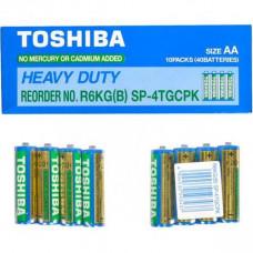 Батарейка TOSHIBA солевая AA R6 tray 4