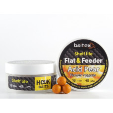 Baitex Бойл Вареный Насадочный Shelf  life boilies Flat & Feeder (10 мм) 45шт - Acid Pear