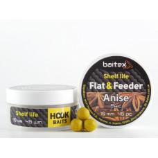 Baitex Бойл Вареный Насадочный Shelf  life boilies Flat & Feeder (10 мм) 45шт - Anise