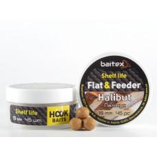 Baitex Бойл Вареный Насадочный Shelf  life boilies Flat & Feeder (10 мм) 45шт - Halibut