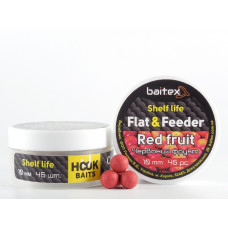 Baitex Бойл Вареный Насадочный Shelf  life boilies Flat & Feeder (10 мм) 45шт - Red  Fruit