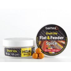 Baitex Бойл Вареный Насадочный Shelf  life boilies Flat & Feeder (10 мм) 45шт - Spice