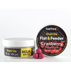 Baitex Бойл Вареный Насадочный Shelf  life boilies Flat & Feeder (10 мм) 45шт - Сranberry