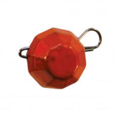 гранований 10 грама помаранчевий джиг розбірний; 7 шт. в упаковці