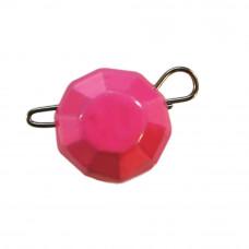 гранований 24 грама рожевий джиг розбірний; 5 шт. в упаковці
