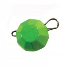 гранований 14  гр  зелений джиг розбірний; 7 шт. в упаковці
