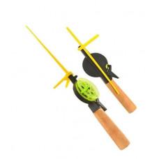 Удочка зимняя (деревянная ручка) открытая